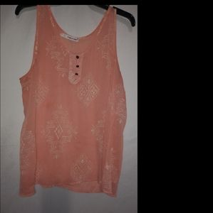 MAURICES Peach Design Tank Top 1X Plus